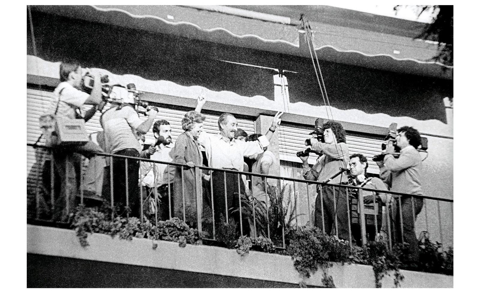 Liberación de Liber Seregni, Bulevar Artigas y Bulevar España, Montevideo, 19 de marzo de 1984