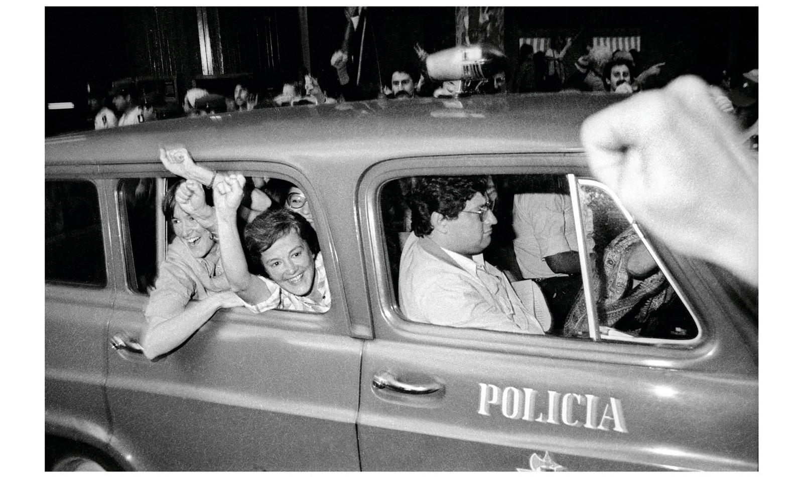 Liberación de presas, María Elia y Lucía Topolansky, 14 de marzo de 1985