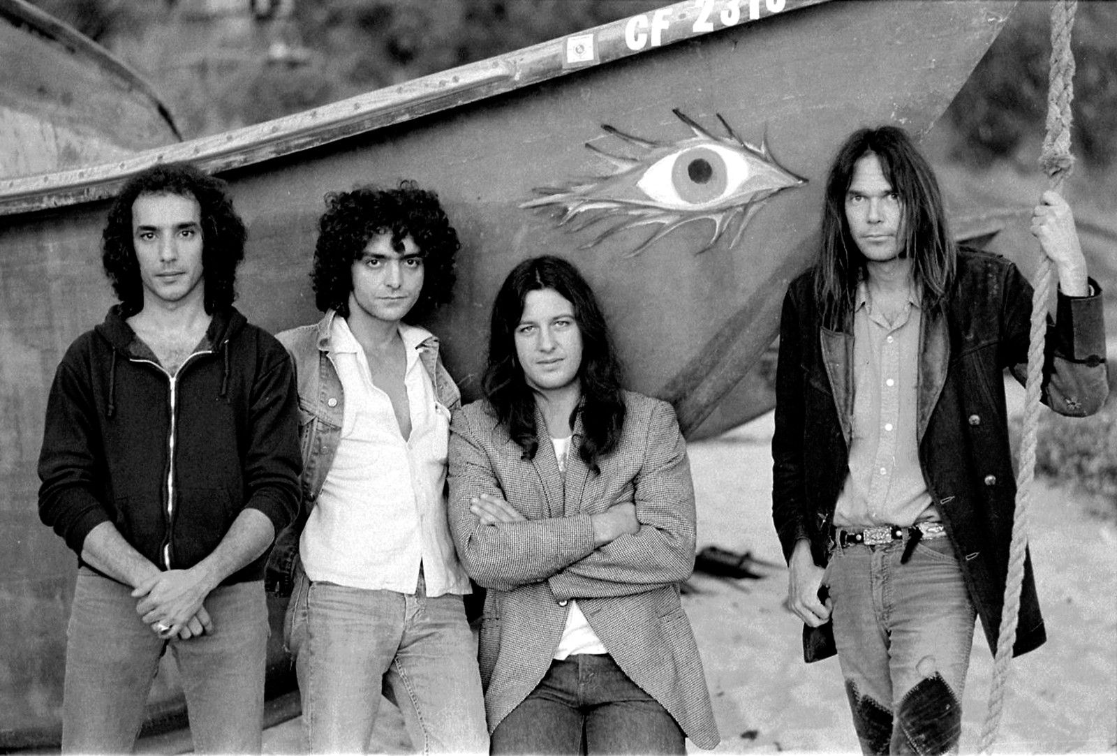 Neil Young with Crazy Horse, 1975, foto Henry Diltz