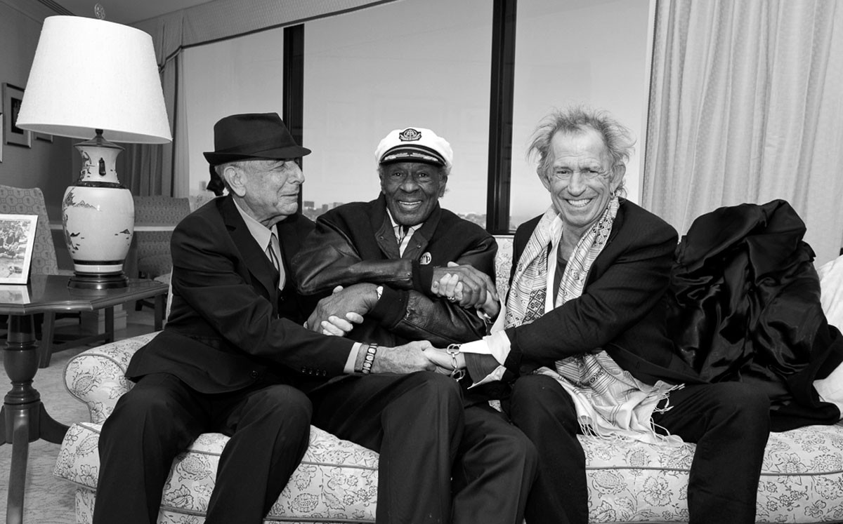 Leonard Cohen, Chuck Berry, Keith Richards, 2014