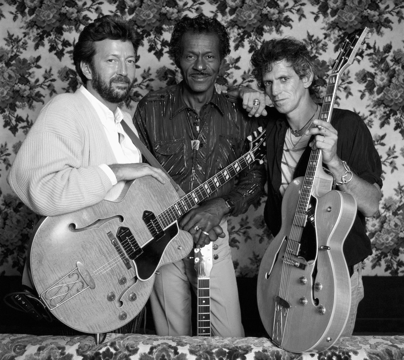 Eric Clapton, Chuck Berry, Keith Richards, 1986