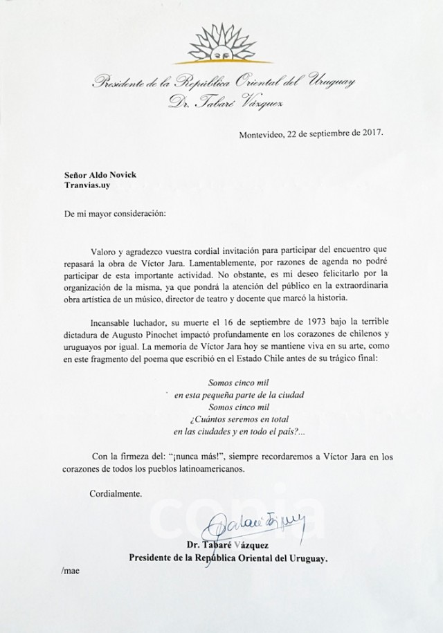 Carta recibida